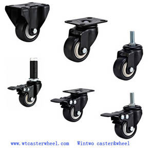 Wholesale funitures: light duty PU Caster,small caster,funiture caster,toolbox caster,trolley castor wheel,cart caster