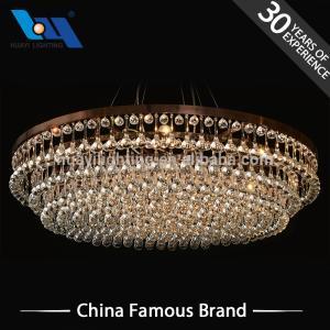 Wholesale crystal ceiling light: Decoration Lights Custom Indoor Big Crystal Chandelier