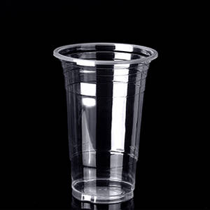 Wholesale disposable cups: 500F 16oz 500ml Transparent Plastic PP Disposable Cup with Logo