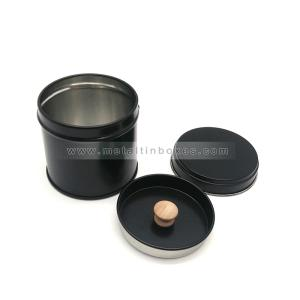 Wholesale paper coaster: Portable Small Round Metal Tea Can Airtight Tea Coffee Tin Tea Container