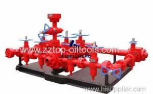Wholesale water level control valve: Oilfield Wellhead API 16C Kill Manifold 4 1 / 16- 5000psi