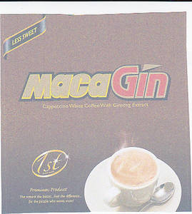 Wholesale white coffee: MacaGin Cappucino White Coffee with Ginseng Extract