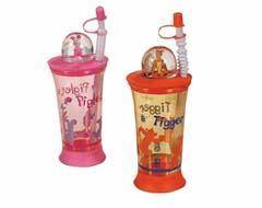 Wholesale PS: Cartoon Bottle with Straw
