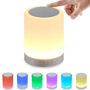 Wholesale bedsides lamp: 7 Colors Bluetooth Speaker with Touch Sensor, TF/AUX/MIC Functions