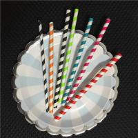 2018 New Style Colored Paper Drinking Straws