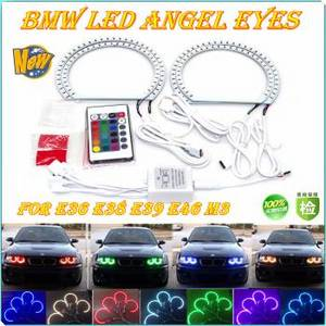 Wholesale rgb lighting controller: BMW LED RGB Angle Eye Light with Remote Control