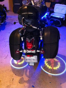 Wholesale motorcycles: LED Ghost Rider Lights for Motorcycles,Custom Logo Available