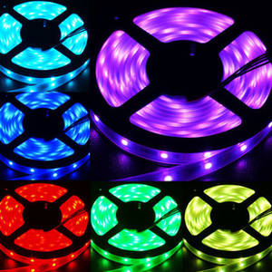 Wholesale remote controlled light: LED Strip Light RGB Waterproof 5050 150/300LEDs Per Meter with 24/44keys Remote Controller