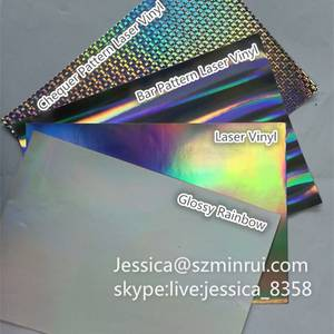 Wholesale void hologram label: Hologram Destructible Vinyl Eggshell Sticker Material