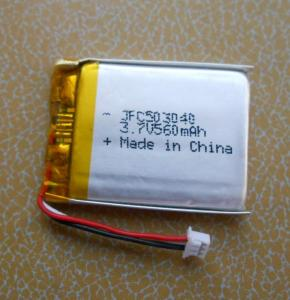 Wholesale flashing badge: Jfc 503040 Polymer battery 3.7V 560MAH  Open to see all models