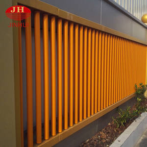 Wholesale safety security: PVDF Coating Yellow Pipe Safety Fence/Security Handrail Fence