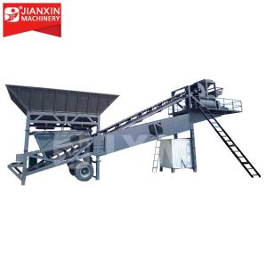 Wholesale hzs25: Ready-mixed Small Mobile Concrete Cement Batching Plant 25 M3 Prices for Sale