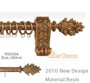 Wholesale curtain rod: Deluxe Resin Curtain Rod#50mm