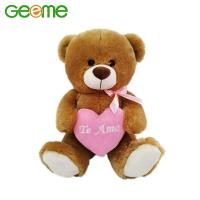 JM9155 Stuffed 40cm Plush Toy Teddy Bear with Heart