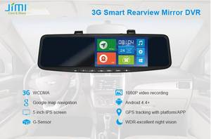 Wholesale mirror: JC600 3G Android GPS Navigation Rearview Mirror DVR