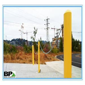 Wholesale traffic barriers: Yellow Powder Coated Steel Road Bollards for  Traffic Barrier