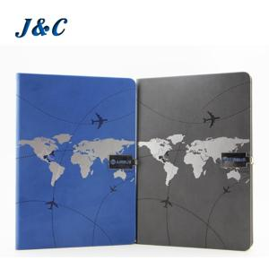 Wholesale Notebook: PU Leather Metal Badge Notebook