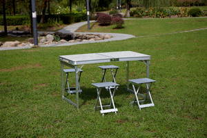 Wholesale parasol: Aluminum Folding Table with Parasol Hole