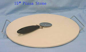 Wholesale BBQ, Grilling & Outdoor Cooking: 15 Inch Ceramic Pizza Stone