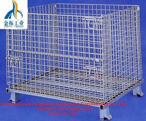 Wholesale wire mesh containers: Foldable Wire Mesh Container with Good Quality