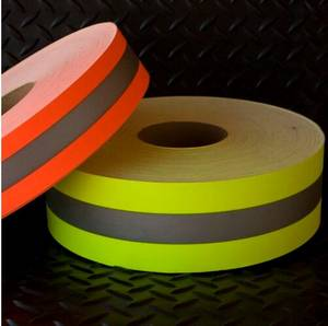 Wholesale reflective fabric: Flame Resistant or Fire Retardant Reflective Fabric Reflective Tape for Firefighter