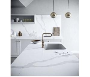 Wholesale hot sale in area: Hot Sales White Calacatta Quartz Countertops