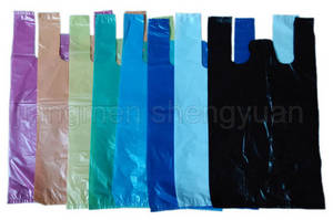 Wholesale plastic shopping bag: HDPE Plain Plastic T-Shirt Retail Shopping Bag/Retail Grocery Bag/Vest Handle Bag/Vest Carrier Bag