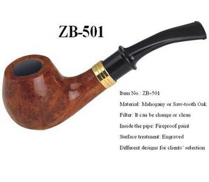 Wholesale pipe tobacco: Wooden Tobacco Pipe (ZB-501)