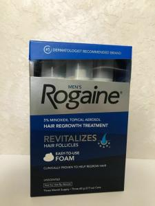 Wholesale hair regrowth product: Men's Rogaine 5% Minoxidil Topical Aerosol Hair Regrowth Treatment Unscented
