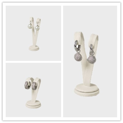 Sell high quality Cream velvet earring Jewelry Stands