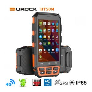 Wholesale handheld terminal: Rugged Handheld PDAs IP65 with 5 Inch Larger Screen 4G LTE Rugged Hand Terminals 2D Barcode Scanner