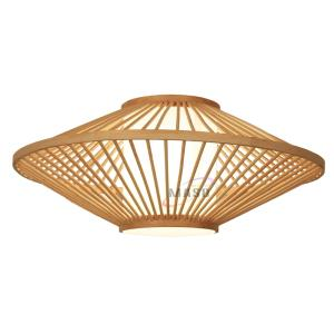 Wholesale mix color mosaic: LED Suspended Ceiling Lighting Modern Lamp Bamboo Shade Pendant Light