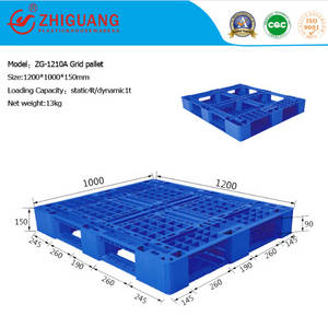 Wholesale baby carriage: Warehouse Storage High Duty 4 Way Grid Plastic Pallet (ZG-1210A)