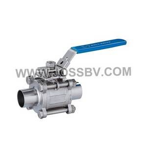 Wholesale sanitary pad: 3-Piece Sanitary Ball Valve Butt Weld with ISO5211 Mounting Pad