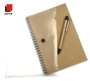 Wholesale yuyao: Kraft Paper Cover 60 Sheets Notebook File Pocket with Pen