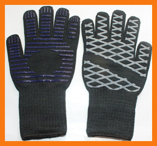 Silicone Grip Heat Resistant Grill Gloves, Withstand Heat Up To 662F
