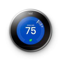 Original Nest Learning Thermostat 3rd Generation, Easy Temperature Control Works with Alexa