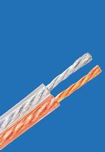 Wholesale armoured cable: Transparent PVC Insulated YXB Audio Speaker Wire