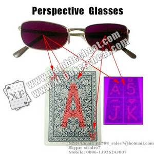 Wholesale u: XF Perspective Glasses/Poker Cheat/Marked Cards/Infrared Lens