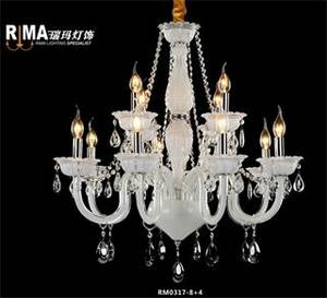 Wholesale chandelier light: Rima Lighting Modern Glass Cystal Chandeliers  for Home and Hotel Decoration