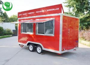 Wholesale fast food: Mobile Fast Food Trailer Hot Sale Food Carts Ice Cream Truck