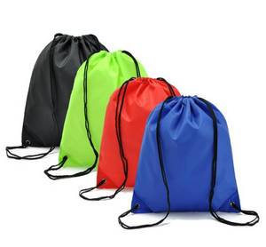 Wholesale school bag: School Drawstring Backpack Sports Draw String Bag