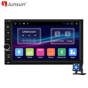 Wholesale data radio: Junsun T36 7inch Android 2 Din Car DVD Radio Multimedia Player for Universal