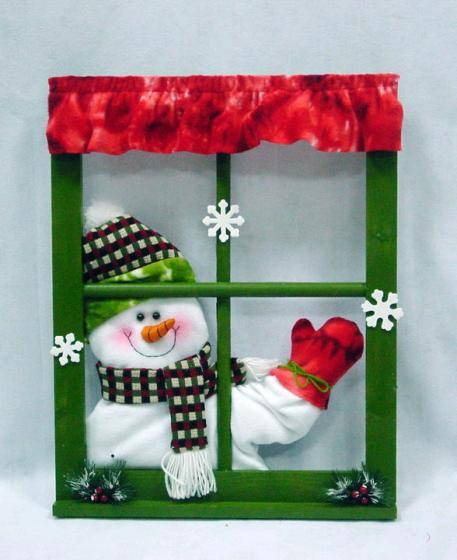 Waving Hand Singing Snowman Window Frame Xmas Decorations