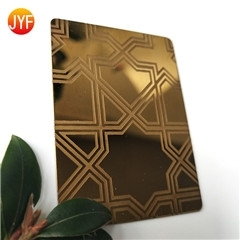 Wholesale stainless steel kitchen units: Mirror and Etched Stainless Steel Gold Titanium Sheet