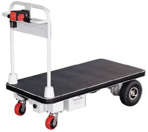 Wholesale electric trolley: Electric Platform Trolley with Big Wheels (HG-1030)