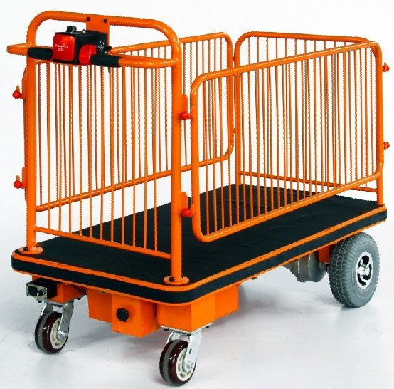 Electric Wire Fence Platform Cart for Materials Handling (HG-1180)