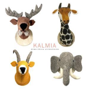 Wholesale wall mounted: Wool Felt Wall Mount Animal Plushies