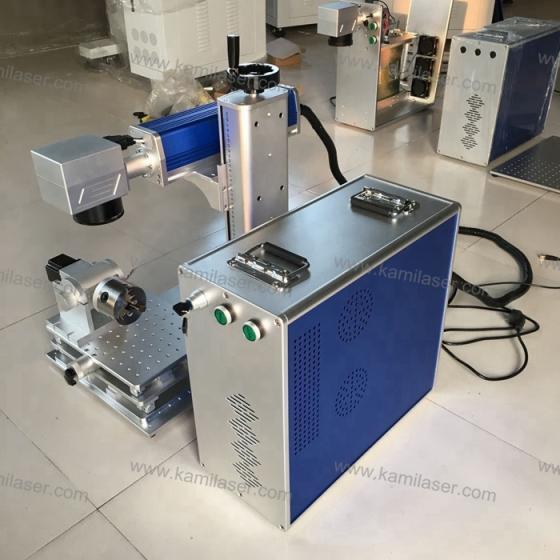 KMF-30 30W Fiber Laser Marking Machine for Steel Aluminum