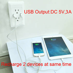 Wholesale Electrical Plugs & Sockets: American Standard ETL and UL Certified USB Wall Socket Outlet Receptacle 5V 3A